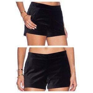 Joie Velvet Caviar Black Shorts